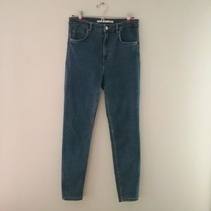ZARA high waisted skinny jeans size 8